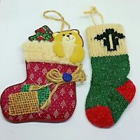 Cloth Stocking Ornaments Wool Country Primitive Cottage