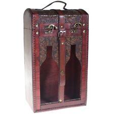 Caja de madera decorada para 2 botellas de vino -Con Ventanas Christian Gar 9550