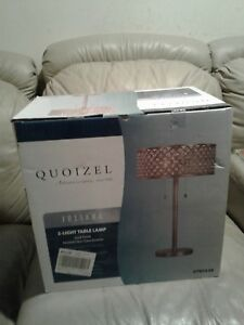 New Quoizel Juliana 24.375-in Gold 2 light Table Lamp With Metal Shade