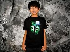 Authentic Minecraft Three Creeper Moon Kids Youth Child Video Game T Shirt L