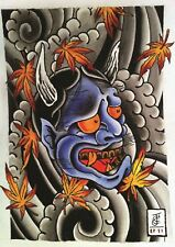 Japanese Demon Devil Tattoo art affiche A3 Print HAL657