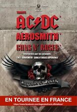 2 places pour Legend's of rock concert ACDC Aerosmith Guns n' roses Montpellier