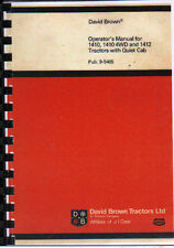 David Brown 1410, 1410 4WD & 1412 Tractor with Quiet Cab Operator Manual Book