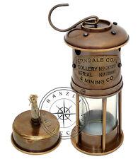 "7"" Ship Lantern Nautical Maritime Lantern Marine Antique brass Minor oil lamp"