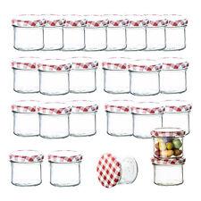25er Set Sturzgläser 125ml Marmeladengläser Einmachgläser mit Schraubdeckel Glas