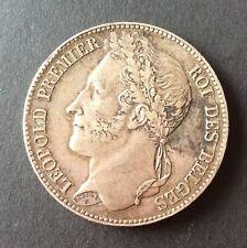 Belgique - Léopold Ier -  Très Jolie Monnaie de 5 Francs 1848  - Tête Laurée