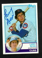 Larry Bowa--Autographed 1983 Topps Baseball Card--Chicago Cubs