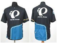 Mens Pearl Izumi Cycling Jersey Short Sleeve Full Zip Black Blue Size L