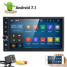 "Android 7.1 Car Stereo GPS Quad Core 7"" Tablet Double 2DIN Radio 3G WiFi+Camera"