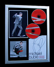 MICHAEL BUBLE+SIGNED+FRAMED+CRAZY+CHRISTMAS=100% AUTHENTIC+EXPRESS GLOBAL SHIP!!