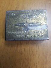 No. 35 Pen Nib Box by Cushman & Denison Mfg. Co., NY