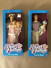 BARBIE THE HEART FAMILY MOM & BABY + DAD & BABY NRFB 1984 MADE IN TAIWAN