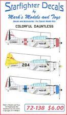 Starfighter Decals 1/72 COLORFUL DAUNTLESS Pre-War SBD Dauntless Dive Bombers