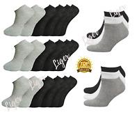3 Pairs Mens Trainer Socks Cotton Rich Ankle Liner Sports Plain Socks UK 6-11