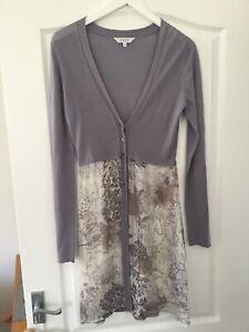 East Ladies Beautiful Long Silk Mix Cardigan Size 8
