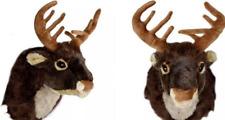 Singing Reindeer Head Hanging Wall Decoration Christmas Xmas Festive Gift Kids