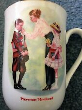 Vintage 1986 Norman Rockwell Art Coffee Cup Mug The First Day Of School