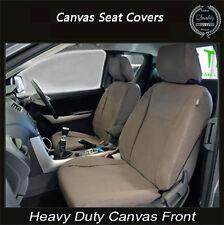 NISSAN NAVARA ST-R ST STX RX PREMIUM CANVAS SEAT COVER FRONT PAIR AIRBAG SAFE