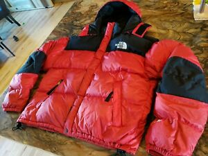 VTG The North Face Gore DryLoft Down Insulated Red/Black Puffer Jacket Size XL