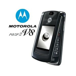 Phone Mobile Phone Motorola RAZR2 V8 Black 512MB Camera Bluetooth
