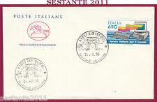 ITALIA FDC CAVALLINO LAVORO ITALIANO PER IL MONDO OLIVETTI 1986 RIMINI FO Y355