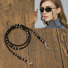 Black Beaded Eyeglass Chain Cord Sunglasses Eyewear Spectacles Strap Holder New