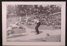 FINE ANTIQUE 1904 PRINT, A B FROST, OUT AT HOME, GREAT BASEBALL IMAGE