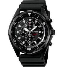 Casio AMW330B-1A1 Men's Black IP Marine Gear Chronograph Sports Diver Watch