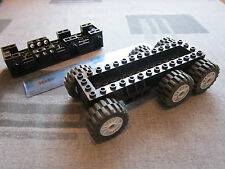 Lego Technic Large BLACK Super Truck Base / Chassis + 6 X GREY Wheels axle hole