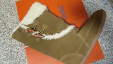 NEW ROCKET DOG LEGION SUEDE BOOTS WOMENS 7.5 BROWN LEATHER W/FUR  FREE SHIP