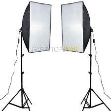 2 PCS 50 x 70cm Photo Video Studio Light Lamp Bulb Tube CFL Softbox +Light Stand
