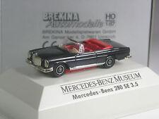 RAR: Brekina Werbemodell Mercedes 280 SE 3,5 Cabrio schwarz Museum in OVP
