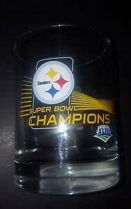 PITTSBURGH STEELERS 2009 SUPER BOWL 43 BRAND NEW  .12.OZ. GLASS NFL LICENSED