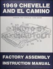 1969 Chevelle Factory Assembly Manual BOUND El Camino SS Malibu 69 Chevrolet