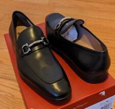 """$660 Mens Salvatore Ferragamo """"Benford"""" Gancini Bit Leather Loafers Black 13 E"""