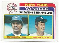 1982 Topps New York Yankees Team Set with Traded and Reggie Jackson