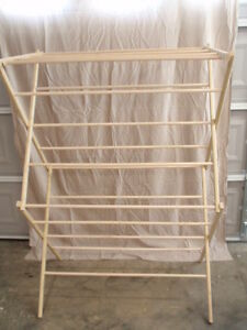 Large Clothes Drying Rack - 50 Feet of Drying Space - Large Wooden Clothes Rack