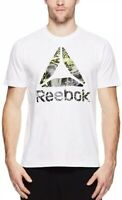 Reebok Men's XL Workout Tee Shirt New White Activewear Gym Training
