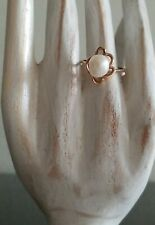 VTG 14K SOLID FINE YELLOW GOLD WITH IRREGULAR SHAPE PEARL RING SZ 6