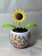 Solar Powered Dancing Toy Bobblehead Flower Pot - Mother's Day - Sunflower