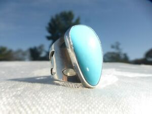 STUNNING Marked Jay King DTR 925 Sterling Silver Light Blue Ring size 6.5