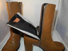 Rare Vintage Leather Harley Davidson Women's Boots Sz 7.5 Flames Zippered Shoes