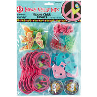 HIPPIE CHICK 48 piece Mega Value Pack Favours Loot Kids Birthday Party