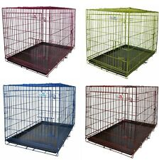 Dog Crate Premium, removable tray no tool assembly , 4 colours and sizes GRADE 5