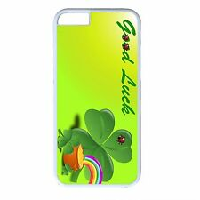 For iPhone 4s 5s 5c 6 6s Plus White Case Cover St.Patrick's Irish Clover Lucky