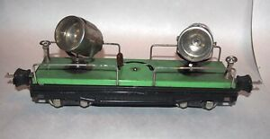 Lionel Prewar O Gauge Late Nickel Searchlight Car! PA