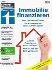 Stiftung Warentest Finanztest April 2021 Immobilien Finanzierung Greensill ETF