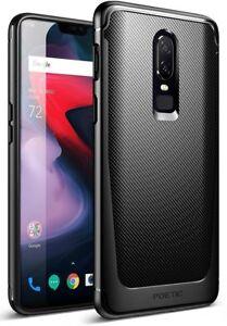 Poetic Karbon Shield [Shock Absorbing] Slim Fit TPU Case for OnePlus 6 Black