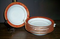 """LOT  6 NORITAKE GOLDHILL SOUP / CEREAL BOWLS 7.5"""" NEVER USED  FREE U S SHIPPING"""