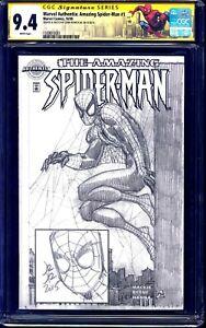 Marvel Authentix Amazing Spider-Man #1 CGC SS 9.4 signed JOHN ROMITA JR SKETCH